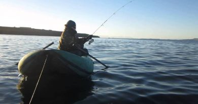 Walleye in the steppe lakes