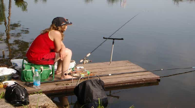 Fishing from the point of view of a woman