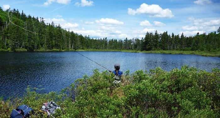 fly fishing on lakes